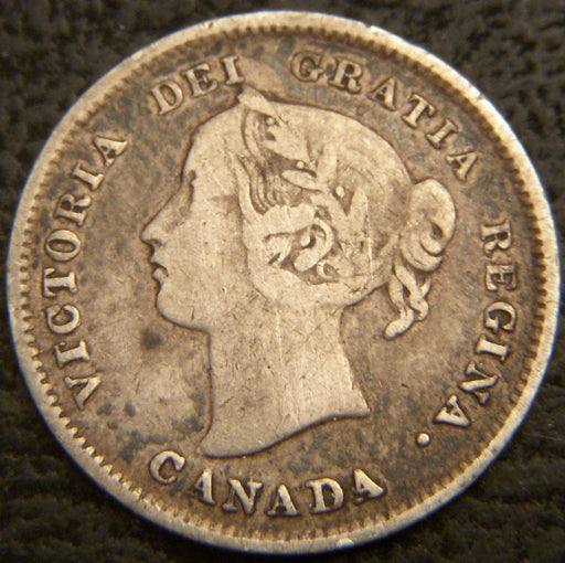 1893 Canadian Silver Five Cent - Fine