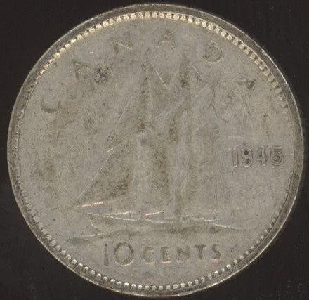 1945 Canadian 10C -  VG/Fine +