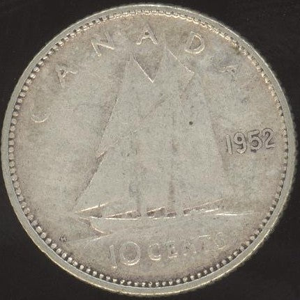1952 Canadian 10C -  VG/Fine +