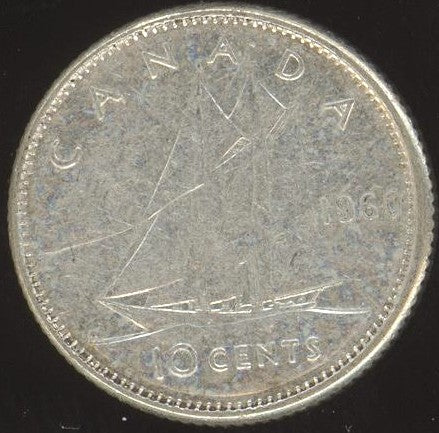 1960 Canadian 10C -  VG/Fine +