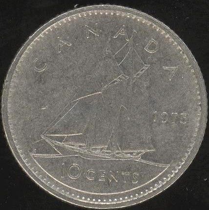 1975 Canadian Ten Cent - Fine to EF
