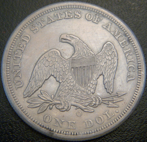 1859-O Seated Dollar - Net AU