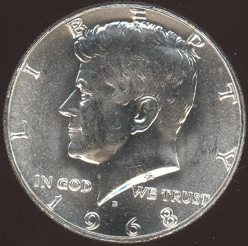 1968-D Kennedy Half Dollar - Mint State