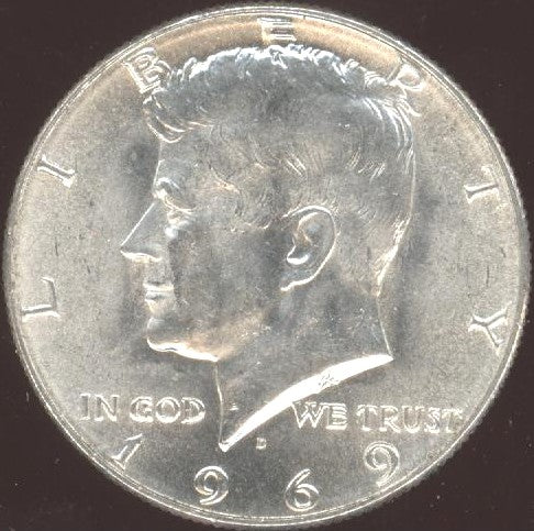 1969-D Kennedy Half Dollar - Uncirculated