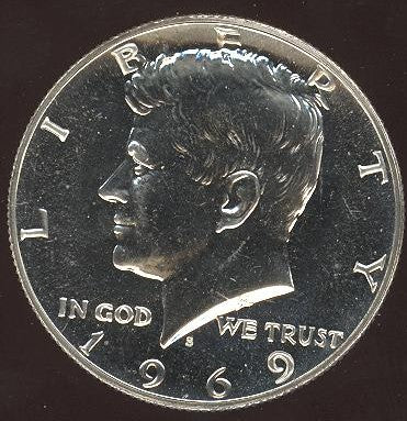 1969-S Kennedy Half Dollar - Proof