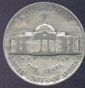 1945-P Silver Jefferson Nickel - Avg Cir
