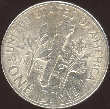 1946-S Roosevelt Dime  VF to AU