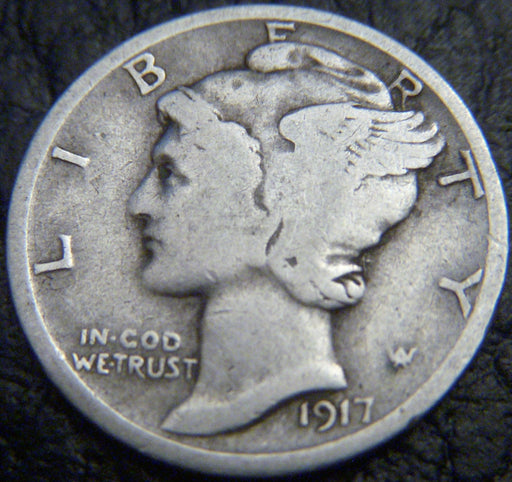1917-S Mercury Dime - Good/VG