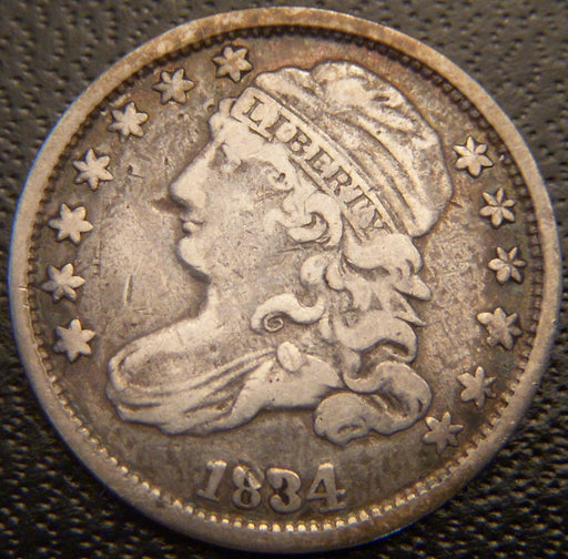 1834 Bust Dime - Very Fine
