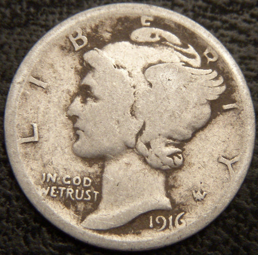 1916 Mercury Dime - Good/VG