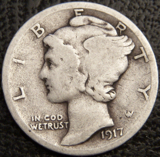 1917-D Mercury Dime - Good/VG
