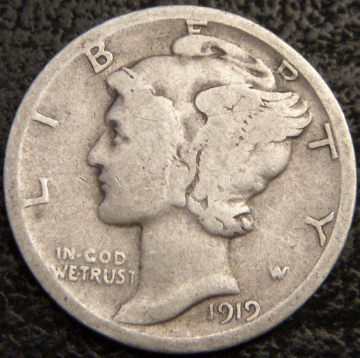 1919-D Mercury Dime - Good/VG