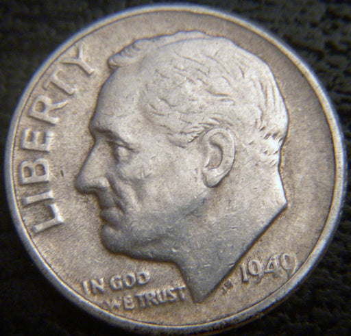 1949 Roosevelt Dime  VF to AU