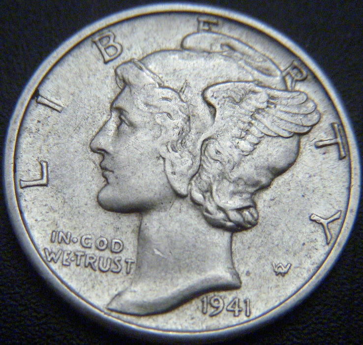 1941-D Mercury Dime - VF to AU