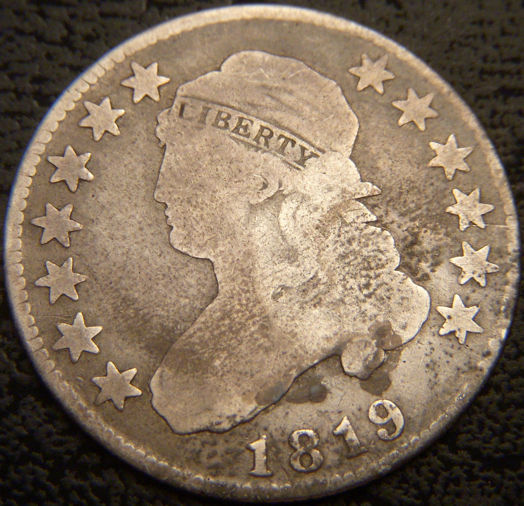 1819 Bust Quarter - Very Good
