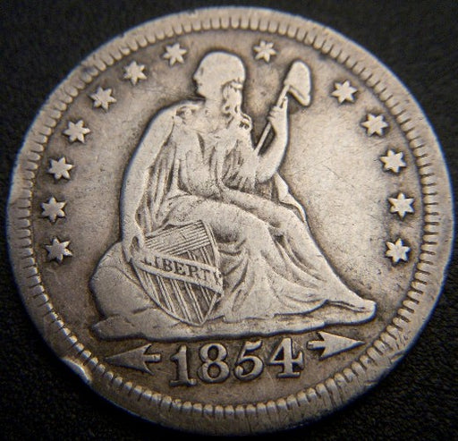 1854 Seated Quarter - Very Fine