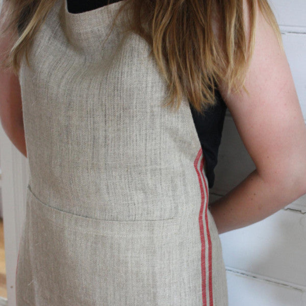 Apron - Natural & Red