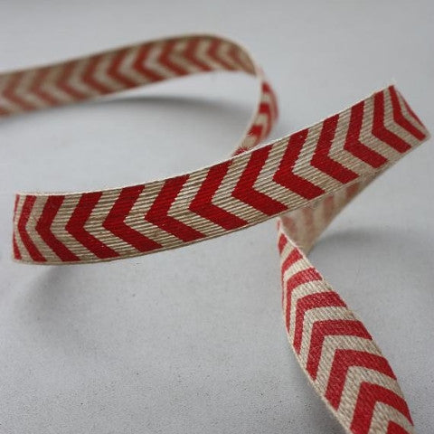 Chevron Jute Ribbon