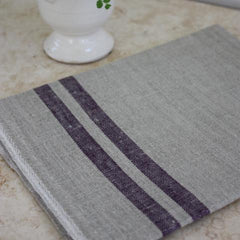Aubergine Duo Tea Towel