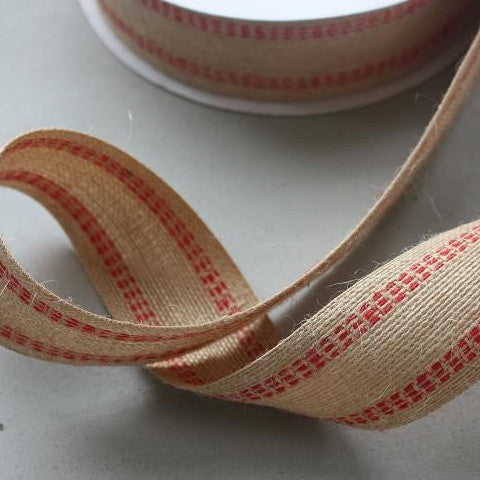 Triple Stitch Jute Ribbon