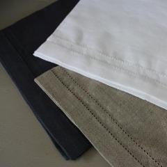 Double Hem Stitched Linen Table Runners