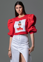 Load image into Gallery viewer, ACA Red Printed Crop Top