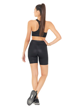 Load image into Gallery viewer, BeFit High Waisted Biker Shorts - Glossy Black