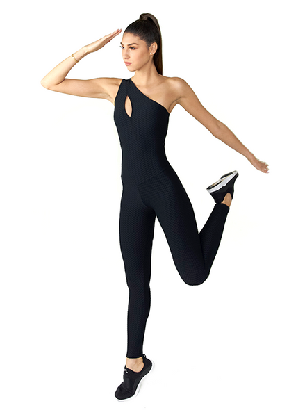BeFit Jumpsuit - Black Textured