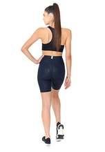Load image into Gallery viewer, BeFit High Waisted Biker Shorts - Blue Snake