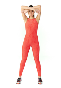 BeFit Halter Jumpsuit - Bright Orange