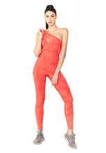 Load image into Gallery viewer, BeFit One-Shoulder Jumpsuit - Bright Orange