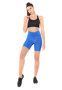 BeFit High Waisted Biker Shorts - Sky Blue