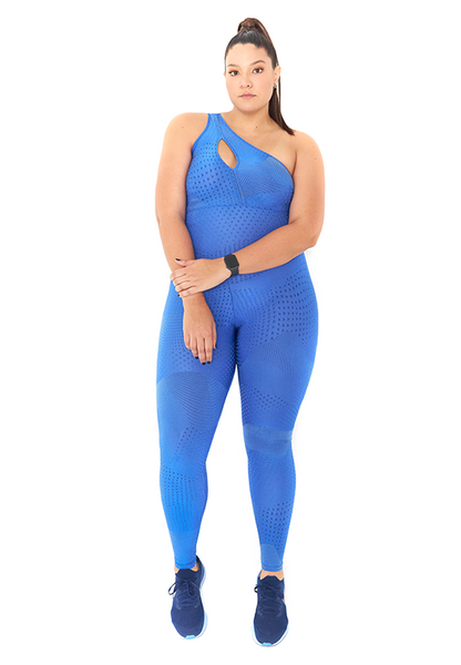 BeFit One-Shoulder Jumpsuit - Sky Blue