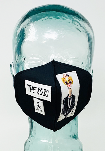 AFM The Boss Black Face Mask