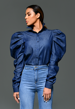 Load image into Gallery viewer, AxMJB - Blouse Denim