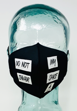 Load image into Gallery viewer, AFM Dont Invade My Space Black Unisex Face Mask