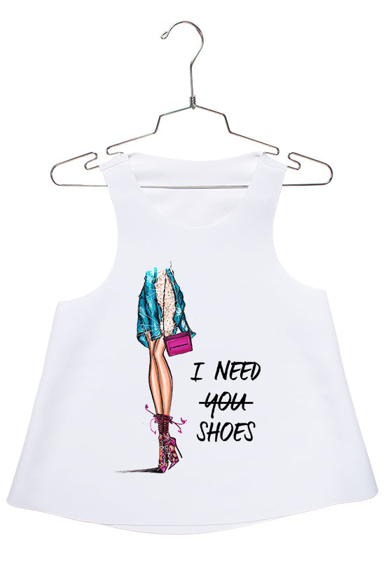 I Need Shoes Racerback
