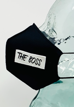 Load image into Gallery viewer, AFM The Boss Black Unisex Face Mask