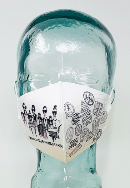 AFM Travel B&W Face Mask