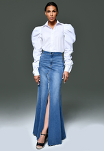 Load image into Gallery viewer, AxMJB - Wide Denim Skirt