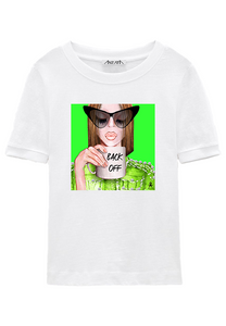 #BackOff - Green White T-Shirt