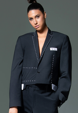 "Load image into Gallery viewer, ACA Oversized Cropped Blazer ""One of a Kinds"""