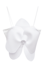 Load image into Gallery viewer, ACA Flower Crop Top - White