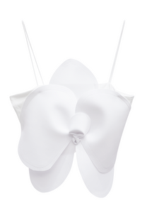 ACA Flower Crop Top - White