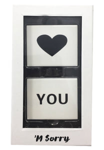 M' Sorry Love You Sneaker Plaque