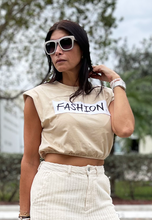 Load image into Gallery viewer, SAVAGE - Nude Padded Crop Tee