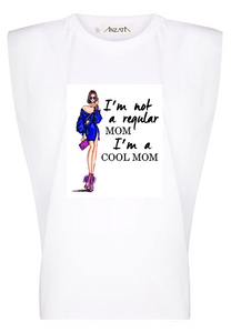 Cool Mom Dress - White Padded Muscle Tee