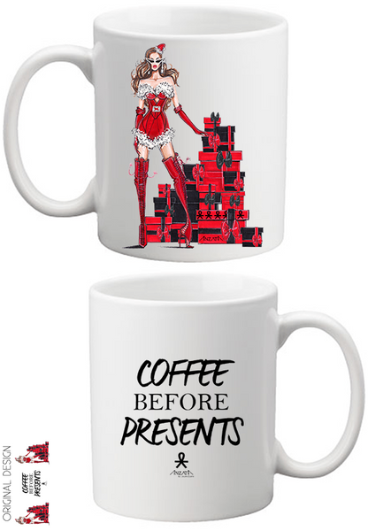 A Coffee Before Presents Holiday Coffee Mug