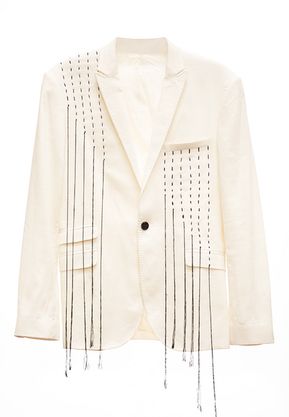 ACA Decorated Off White Blazer