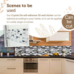【Autumn promotion】Crystal tile self-adhesive 3D wall sticker